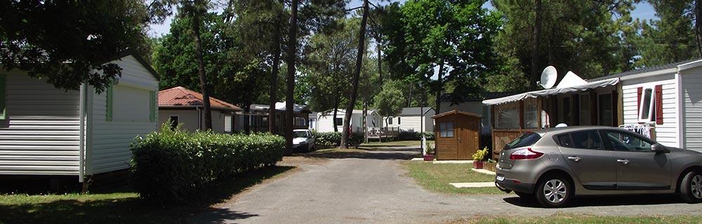 les locations de mobilhomes du camping le California à St jean de Monts