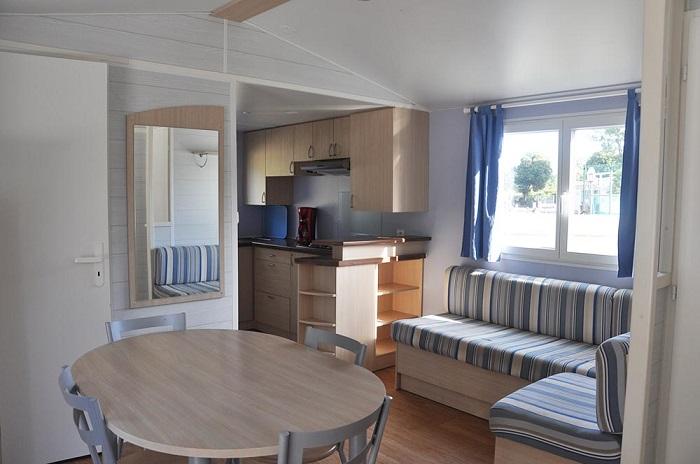 mobil-home spacieux en location au camping