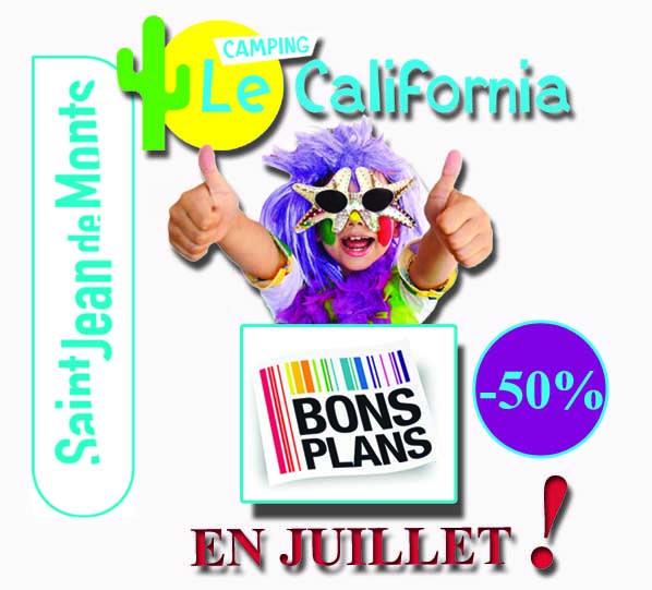 -50% bon plan camping le California Saint Jean de Monts